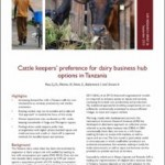 Dairy business hubs in Tanzania – farmer preferences and needs