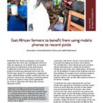 East African dairy farmers using mobile phones to record yields