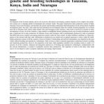 Dairy production systems and the adoption of genetic and breeding technologies in Tanzania, Kenya, India and Nicaragua